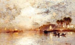 Thomas Moran - On the St. John's River, Florida