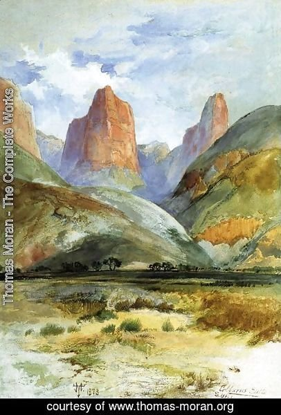 Thomas Moran - Colburn's Butte, South Utah