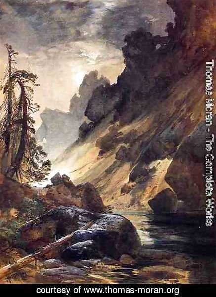 Thomas Moran - Moonlight, Devil's Den