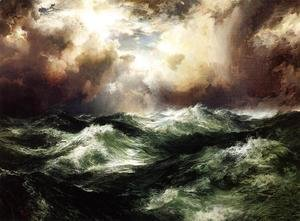 Thomas Moran - Moonlit Seascape