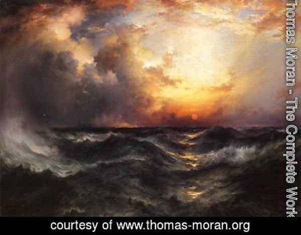 Thomas Moran - Sunset in Mid-Ocean