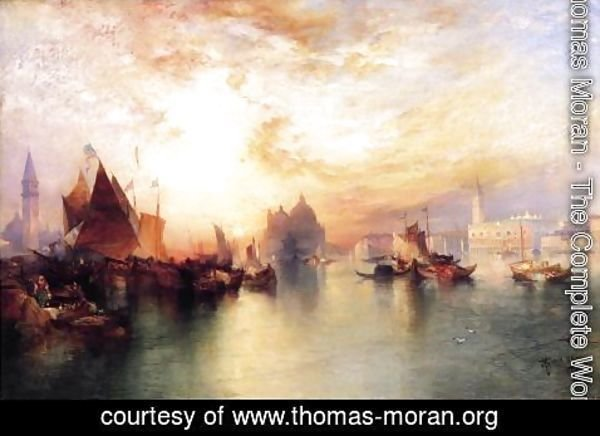 Thomas Moran - Venice, from near San Giorgio