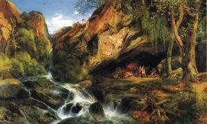 Thomas Moran - Salvator Rosa Sketching the Banditi