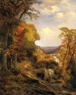 Thomas Moran - On the Wissahickon near Chestnut Hill