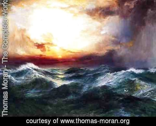 Thomas Moran - Sunset after a Storm