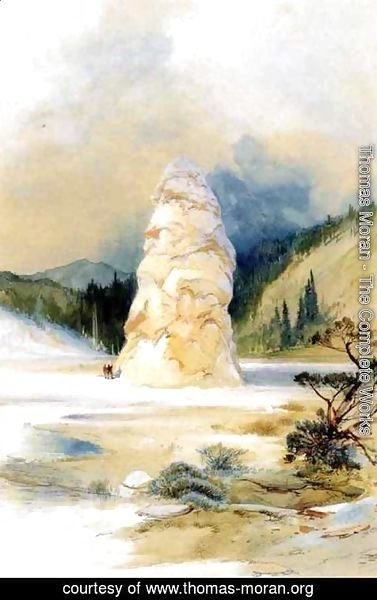 Thomas Moran - The Hot Springs of Gardiners River, Extinct Geyser Crater
