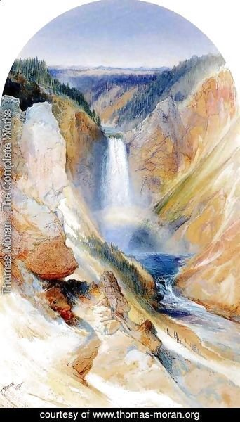 Thomas Moran - Wyoming Fall, Yellowstone River