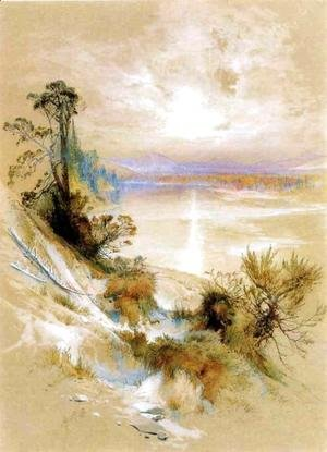 Thomas Moran - The Yellowstone River, at its Exit from the Yellowstone Lake