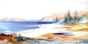 Thomas Moran - The Yellowstone Lake with Hot Springs