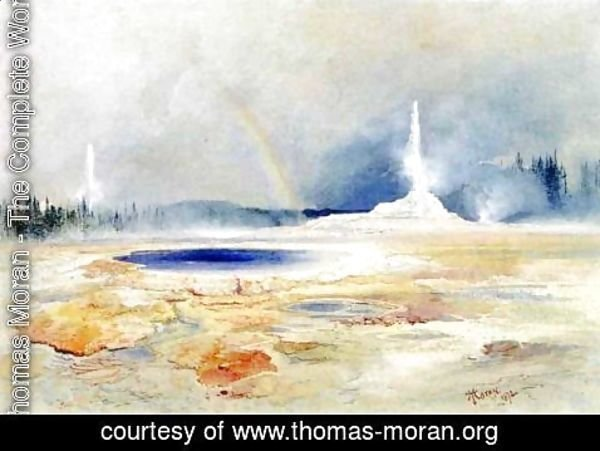 Thomas Moran - The Castle Geyser, Fire Hole Basin