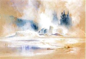 Thomas Moran - The Grotto Geyser, Fire Hole Basin