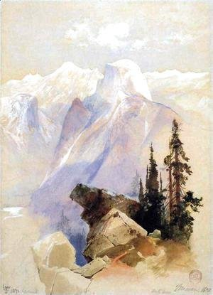 Thomas Moran - Half Dome, Yosemite