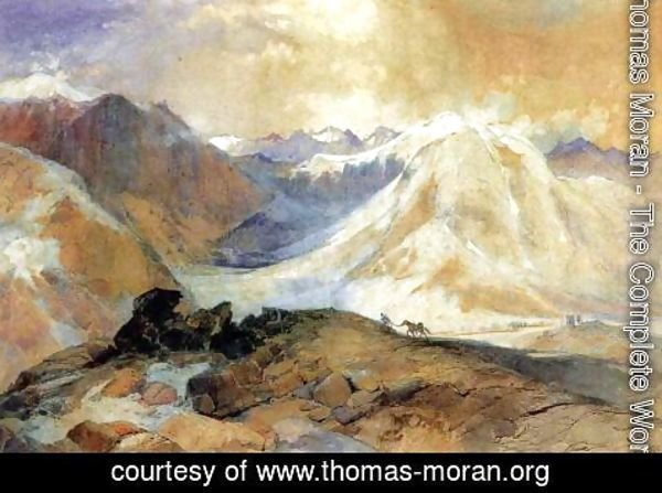 Thomas Moran - Mosquito Trail, Rocky Mountains of Colorado