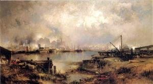 Thomas Moran - Lower Manhattan from Communipaw, New Jersey