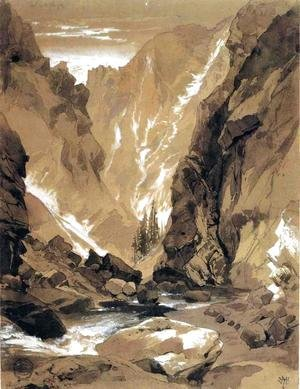 Thomas Moran - Toltec Gorge, Colorado