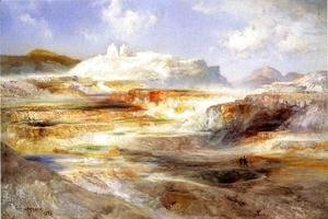 Thomas Moran - Jupiter Terrace, Yellowstone