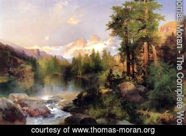 Thomas Moran - The Three Tetons