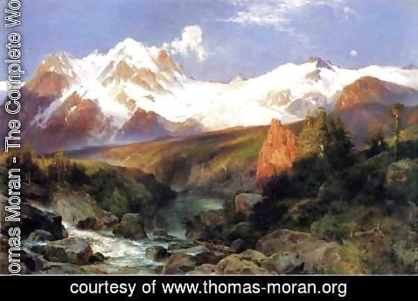 Thomas Moran - The Teton Range
