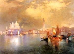 Thomas Moran - Moonlight in Venice