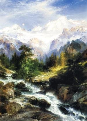 Thomas Moran - In the Teton Range