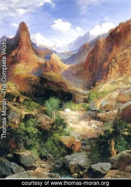 Thomas Moran - Bright Angel Trail