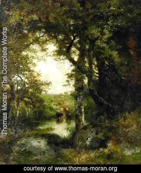 Thomas Moran - Pool in the Forest, Long Island