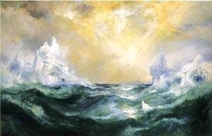 Thomas Moran - Icebergs in Mid-Atlantic