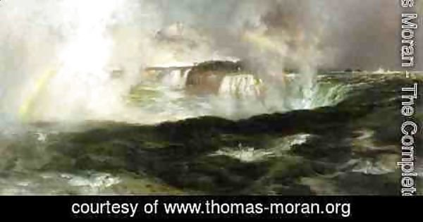 Thomas Moran - Looking over Niagara Falls