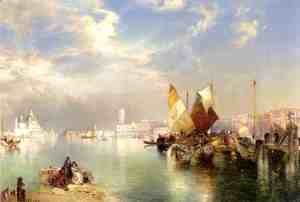 Thomas Moran - Venice, The Little Bridge