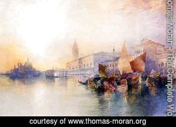 Thomas Moran - Santa Maria and The Ducal Palace, Venice