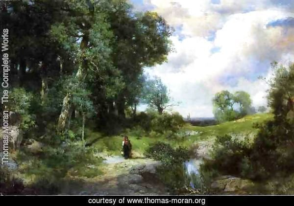 Young Girl in a Long Island Landscape