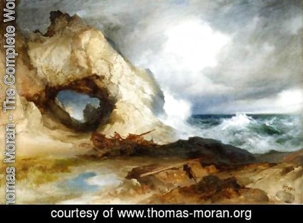 Thomas Moran - The Cavern, California Coast