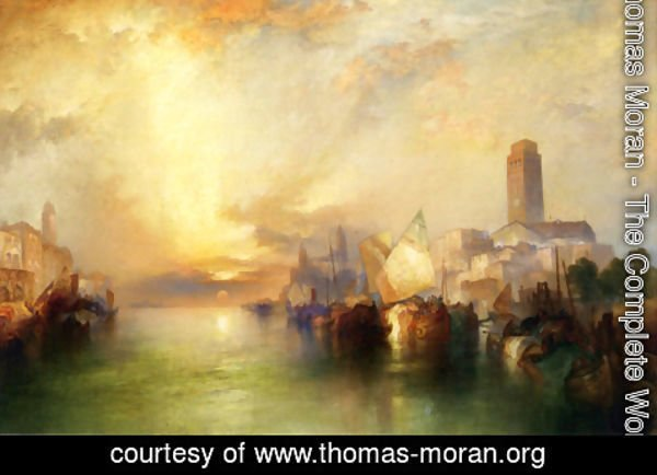 Thomas Moran - View of Venice III