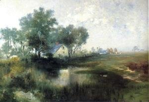 Thomas Moran - Misty Morning, Appaquogue
