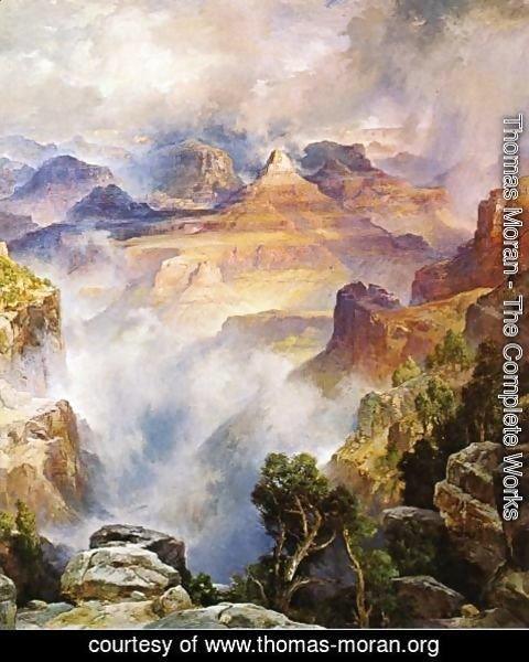 Thomas Moran - Canyon Mists: Zoroaster Peak [Grand Canyon, Arizona]