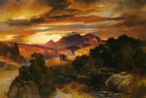 Thomas Moran - Sunset