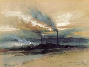 Thomas Moran - Smelting Works at Denver