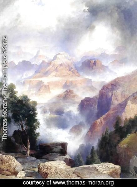 Thomas Moran - A Showery Day, Grand Canyon