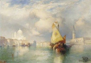 Thomas Moran - A View of the Doge's Palace