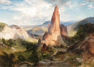 Thomas Moran - Glen Eyrie, Garden of the Gods, Colorado