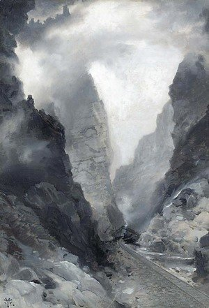 Thomas Moran - Royal Gorge-Colorado