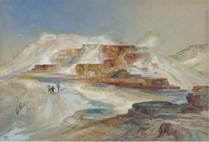Thomas Moran - Hot Springs Of Gardiner's River, Yellowstone