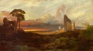 Thomas Moran - Rome, from the Campagna, Sunset
