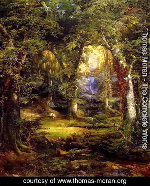 Thomas Moran - woodland_temple