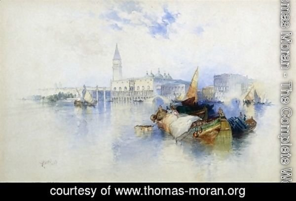 Thomas Moran - Basiin of San Marco 1897