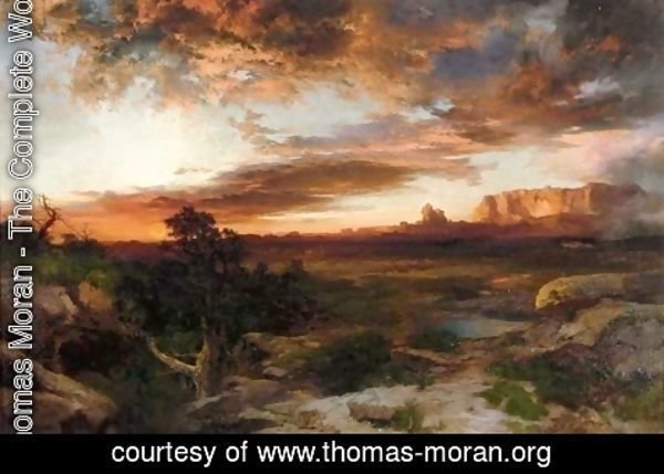 Thomas Moran - Sunset, La Rita
