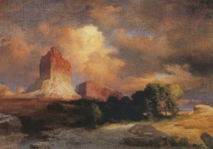 Thomas Moran - Sunset Cloud Green River Wyoming