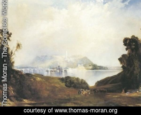 Thomas Moran - Fairmount Waterworks Philadelphia