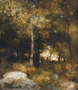 Thomas Moran - Autumn Wood