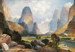 Thomas Moran - Valley of the Babbling Waters, Southern Utah, 1876